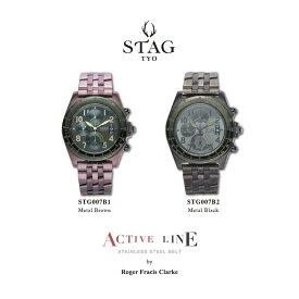 【送料無料】腕時計 メンズ 男性用ウォッチ STAG TYO スタッグ 時計 STG007B 国産高性能クロノグラフムーヴメント 日本製【メーカー保証】