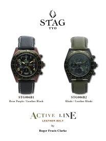 【送料無料】腕時計 メンズ 男性用ウォッチ STAG TYO スタッグ 時計 STG006 国産高性能クロノグラフムーヴメント 日本製【メーカー保証】