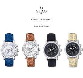 【送料無料】腕時計 メンズ 男性用ウォッチ STAG TYO スタッグ 時計 STG010 国産高性能クロノグラフムーヴメント 日本製【メーカー保証】