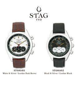 【送料無料】腕時計 メンズ 男性用ウォッチ STAG TYO スタッグ 時計 STG014 国産高性能クロノグラフムーヴメント 日本製【メーカー保証】