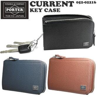 Yoshida bags key holder Porter current leather key coin purse L-shaped Yoshida bag PORTER CURRENT