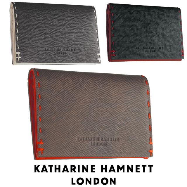 キャサリンハムネット 名刺入れ カードケース KATHARINE HAMNETT カラーテーラード ベジタブルレザー キャサリン・ハムネット 財布 490-51909
