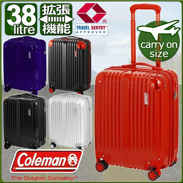コールマン スーツケース ハード 4輪 拡張型 46センチ 38〜46リットル ダブルキャスター 機内持込み Coleman 14-54