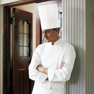 606-70 kazen KAZEN apuronkokkukoto男性白衣食品白衣长袖子