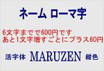 ネームローマ字6文字まで600円1文字増すごとにプラス60円