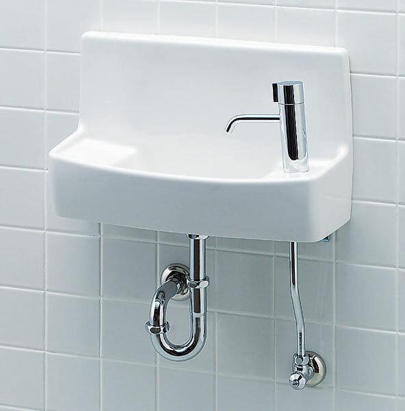 【L-A74HB】 INAX LIXIL・リクシル トイレ用手洗い器 ハンドル水栓 床給水・床排水 ハイパーキラミック 【コンパクト】 [新品]【RCP】