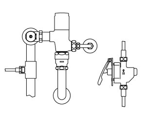 INAX トイレ 露出形レバー式フラッシュバルブ【CFR-T610PK-C】 (定流量弁付フラッシュバルブ) 洗浄水量6-8L便器用 [納期4週間] 【CFRT610PKC】 INAX・イナックス・LIXIL・リクシル[新品]