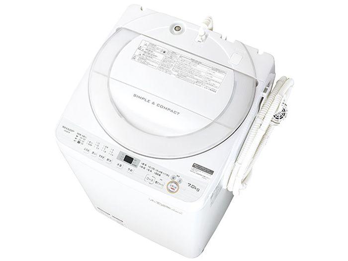 シャープ 7kg 全自動洗濯機 ES-GE7B-W