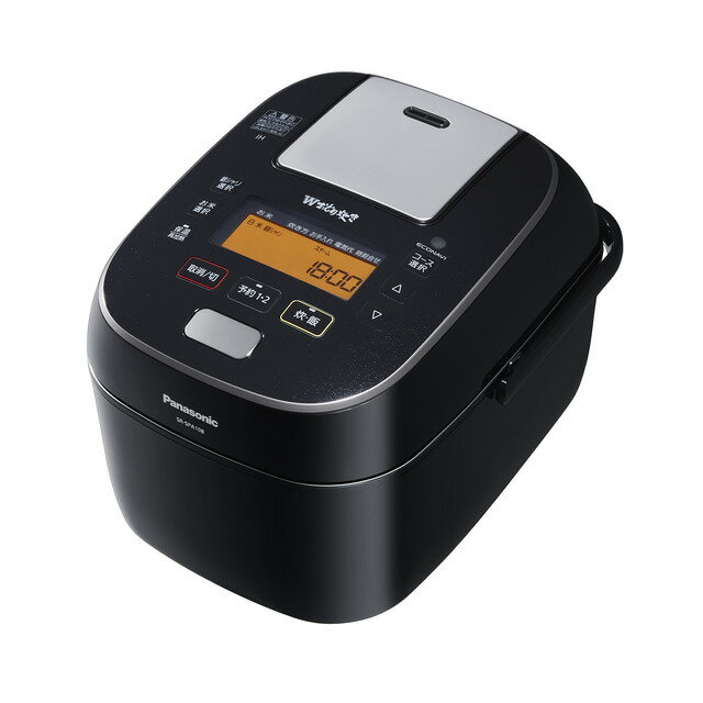 パナソニック 5.5合炊き スチーム&可変圧力IHジャー炊飯器 SR-SPA108-K