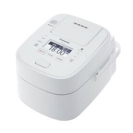パナソニック 5.5合炊き スチーム&可変圧力IHジャー炊飯器 SR-VSX108-W