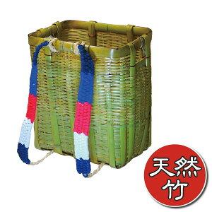 あす楽・送料無料【竹製背負いかご角型・小】