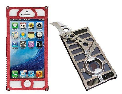 TactiCall Alpha 1 (タクティカル アルファ 1)iPhone 5 Case Red I PHONE 5用ケース 赤ナイフ ボトルオープナー付