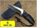 光(ヒカリ)ハンチングナイフ 009X SBD2 黒G10 カイデックスケース
