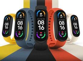 送料無料 父の日ギフト xiaomi smart band 6 スマートウォッチ ランニング アクセサリー ジョギング マラソン スポーツ 2021最新 Xiaomi シャオミ6 腕時計 生理周期管理機能 活動量計 心拍 血圧 歩数 IP67防水 着信通知 睡眠計測 グローバル版