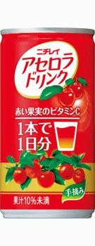 【果汁入りジュース】サントリー ニチレイ アセロラドリンク 190ml 缶 1ケース《30本入》《1配送あたり最大4ケースまで同梱OK!》【★N】