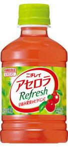 【果汁入りジュース】サントリー ニチレイ アセロラ Refresh ≪リフレッシュ≫ 280ml ペット 1ケース《24本入》《1配送最大で3ケースまで同梱OK!》