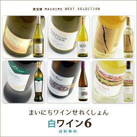 酒宝庫MASHIMO ベストコレクション6本入 《白》 ワインセット【送料無料】
