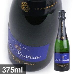 【ニコラ フィアット】 ブルーラベル ブリュット [NV] 375ml・白泡 ハーフボトル 【Nicolas Feuillatte】 Brut Reserve Particuliere 【シャンパーニュ】