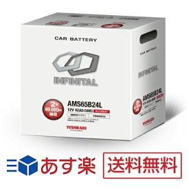 ホンダ オデッセイ適合バッテリー AMS65B24L 充電制御車対応 インフィニタル(互換バッテリー:46B24L・55B24L・60B24L)