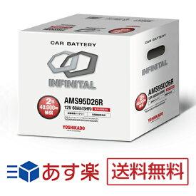農業機械 トラクター適合バッテリー AMS95D26R インフィニタル(互換バッテリー:75D26R・80D26R・85D26R・90D26R)