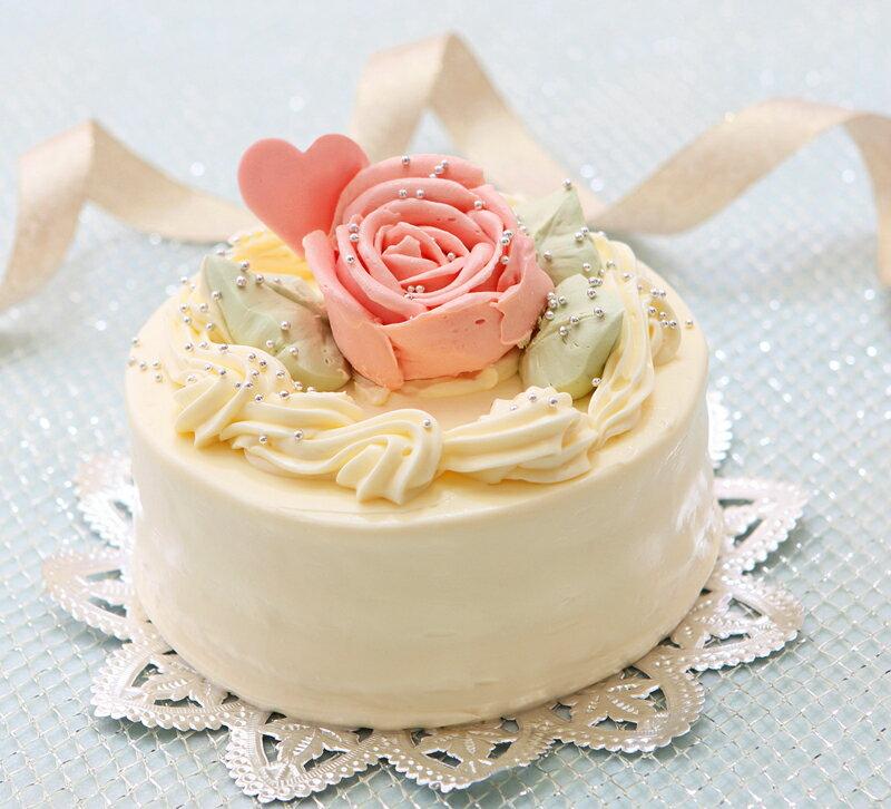 バタークリームケーキ 4号 懐かし昭和の味わい【楽ギフ_メッセ】【楽ギフ_メッセ入力】誕生日ケーキ バースデーケーキ
