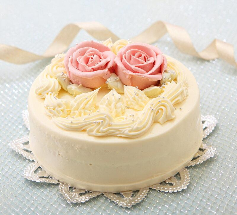 バタークリームケーキ 5号 懐かし昭和の味わい【楽ギフ_メッセ】【楽ギフ_メッセ入力】誕生日ケーキ