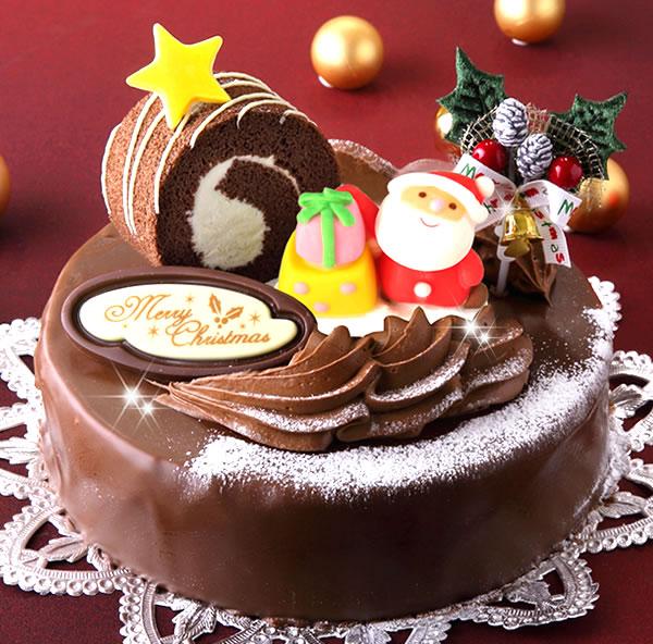 ロールノセタ(6号サイズ) 18cmのチョコレートケーキ 【クリスマスケーキ 2018】【送料500円】※九州は送料900円、沖縄は配送不可【予約】【限定】【人気】