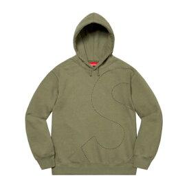 Supreme シュプリーム Laser Cut S Logo Hooded Sweatshirt レーザーカット Sロゴ フーディー パーカー メンズ オリーブ イエロー 大阪 アメ村 オンライン 通販 2021ss WEEK1 101ss21sw34