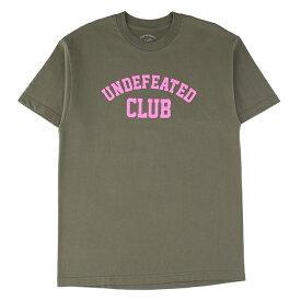 UNDEFEATED×ANTI SOCIAL SOCIAL CLUB アンディフィーデッド×アンチソーシャルソーシャルクラブ Tシャツ メンズ カーキ 大阪 アメ村 オンライン 通販 2019AW 902undeclubtee