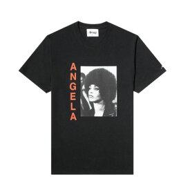 AWAKE アウェイク Angela Davis Ss Tee アンジェラデイヴィスTシャツ 黒人女性政治活動家 メンズ ブラック 大阪 アメ村 オンライン 通販 2020AW 002ts005
