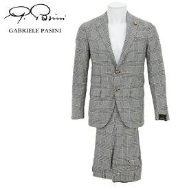 ガブリエレパジーニ GABRIELE PASINI スーツ メンズ グレー チェック ちょい悪 ラルディーニ