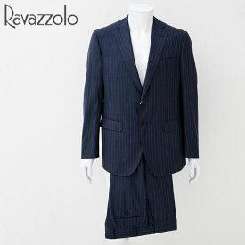ラバッツォーロ Ravazzolo スーツ メンズ ネイビー ストライプ