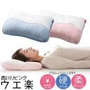 枕 西川 ウエ楽 ベーシック 36×55cm 西川リビング pillow gallery ピローギャラリー 洗える まくら 高さ調整可能 肩こり ギフトにもおすすめ 整形外科医推奨 選べるかたさ やわらか・かため