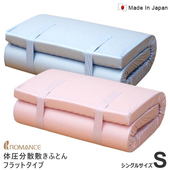 敷布団 体圧分散 シングル ロマンス小杉 フラットタイプ 90mm 90n 1134-7880 敷き布団 マットレス 腰痛 一枚もの のべタイプ のべ板 信頼のアキレス社製ウレタン 安心の日本製 ポイント