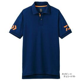ダイワ 半袖ポロシャツ DE-7906 140 ネイビー×チェリートマト