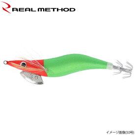 タカミヤ REALMETHOD エギノリマル 2.5号 赤×緑 夜光【ゆうパケット】