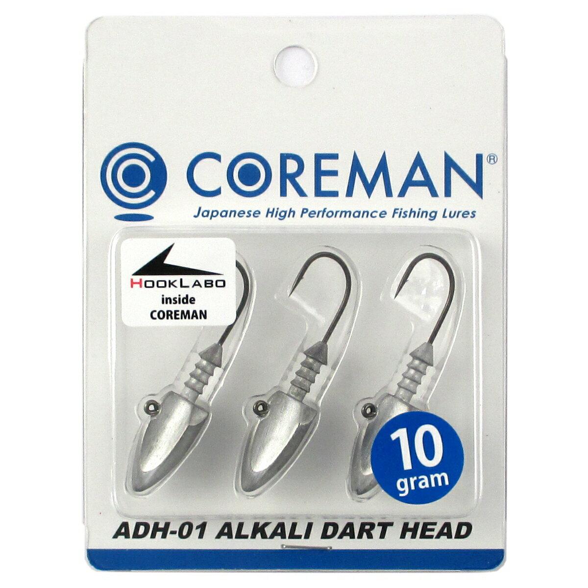 コアマン アルカリダートヘッド ADH-01 10g #001(アンペイント/無塗装)【ゆうパケット】