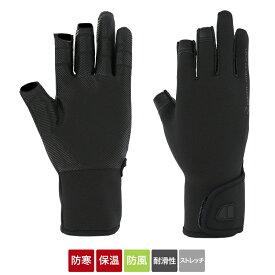 タカミヤ REAL METHOD チタニウムグローブ 3本切 XL ブラック (防寒)