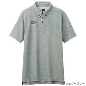 ダイワ ボタンダウンポロシャツ DE-6507 L フェザーグレー