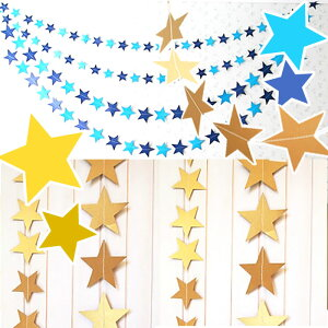 ポイント10倍 星型 フォトプロップス ガーランド 【ゴールド/シルバー/ブルー 】 結婚式 誕生会 誕生日 金 銀 青 小物 アイテム ハート プレート ウエディング フォト Photo Props ブライダル 写