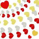 ハート型 フォトプロップス ガーランド 【ゴールド/レッド 】 結婚式 誕生会 誕生日 金 銀 青 小物 アイテム ハート プレート ウエディング フォト Ph...