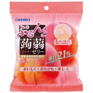 オリヒロ ぷるんと蒟蒻ゼリー ピーチ 20g×6個こんにゃくゼリーORIHIRO Konnyaku Jelly Peach 20g*6 pieces