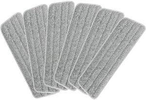 格安 Masthome専用替えモップ 6枚セット 送料無料 モップ専用交換パッド!フロアモップ専用バケツ付き 乾湿両用 掃除用品 フローリング 床掃除 家庭用 業務用 ご希望の品番番号の記入すれ