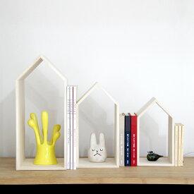本の家/BookHouseNest/ブックエンド/木製品/本棚/出産祝い/新築祝い