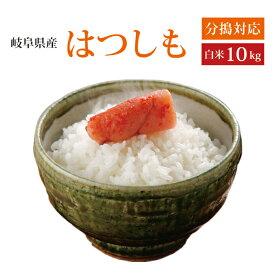 【令和2年産】【本州・四国 送料無料】2020年産 岐阜県産れんげの里のお米 美濃 ハツシモ 白米 10kg [5kg×2袋]選べる分搗き