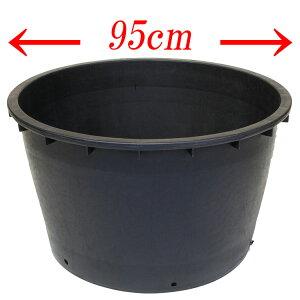 大型プランター!ビッグポット95 直径95cmのイタリア製プランター ガーデニング ナーセリーポット プラスチック 植木鉢 黒 樹脂