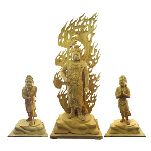 不動明王 二童子像 仏像 木彫 仏像販売 矜羯羅童子 制多迦童子 彫刻