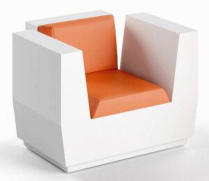 イタリア製デザイナーズファニチャー ビックカット・アームチェア (高さ73cm) ユーロ3 プラストコレクション EP-6279 Plust Collection Big Cut Armchair オブジェ チェア