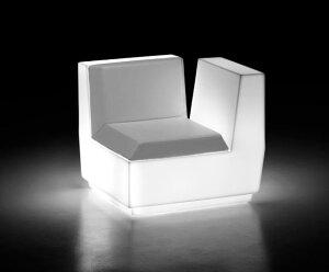 イタリア製デザイナーズファニチャー ビックカット・コーナー ライト付き 【アーム左】(高さ約73cm) ユーロ3 プラストコレクション EP-6281LAH Plust Collection Big Cut Corner Light