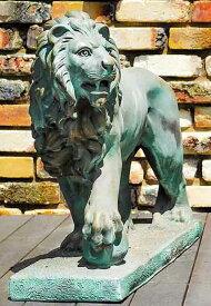 イタリア製動物石像(ガーデンオーナメント) ドッカーレ宮のライオン(左) 青銅吹付仕上げ (1体での販売) Art.602b PapiniAgostino